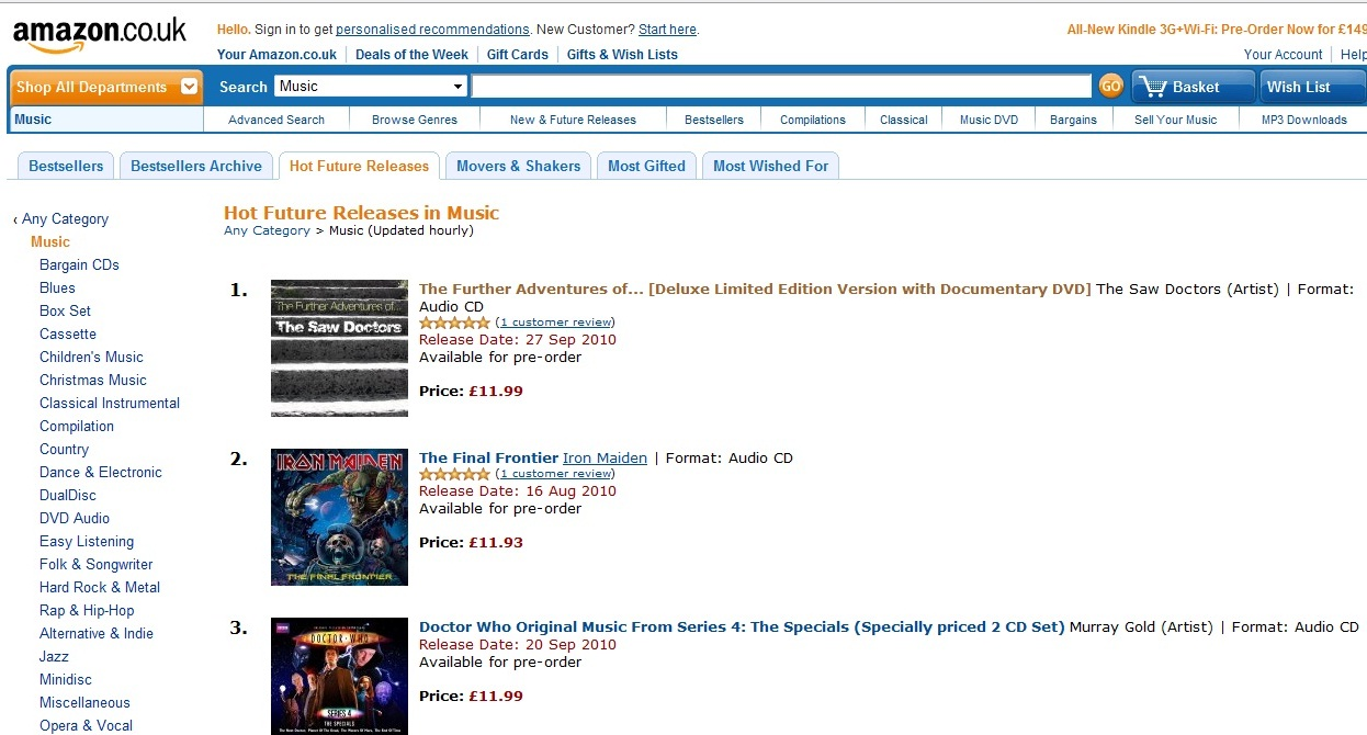 The Saw Doctors No 1 on Amazon Pre-Order Charts! - Good Seed
