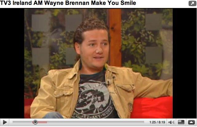 YouTube - TV3 Ireland AM Wayne Brennan Make You Smile